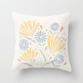 Flower Breeze Throw Pillow