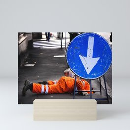 ATTENTION! Here head in action. Mini Art Print