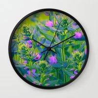sunshine Wall Clocks featuring Sunshine. by Mary Berg