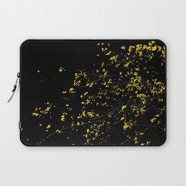 Butter Yellow Palo Brea Flowers on Black Laptop Sleeve