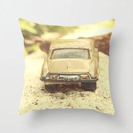 Julians Journey/ Roadblocked Throw Pillow