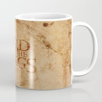 lord of the rings Mugs featuring Lord of the Rings by Kory Hill