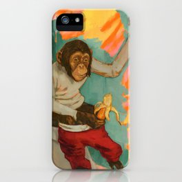 """Primitive Neurological Circuitry (Chimp on Toilet)"" iPhone Case"