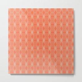 hopscotch-hex tangerine Metal Print