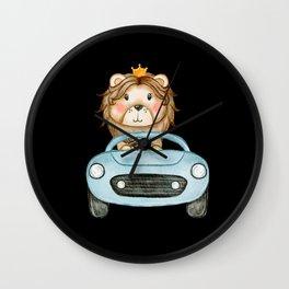 Amazing Cute Lion Watercolor Design Wall Clock