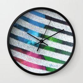 80's Retro Watercolor Zebra Pop Print Wall Clock