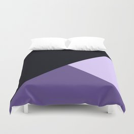 Trinity Color Block Ultra Violet Duvet Cover