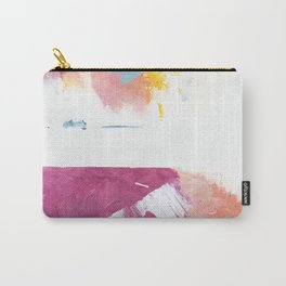 Cotton Candy: a bright, colorful abstract in pinks, blues, yellow, and white Carry-All Pouch