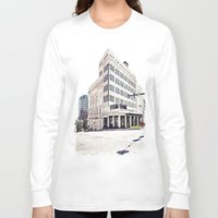 theater Long Sleeve T-shirts featuring Historic Tacoma Theater by Vorona Photography