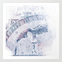 vintage map Art Prints featuring Vintage Map by MJ'designs - Marosée Créations