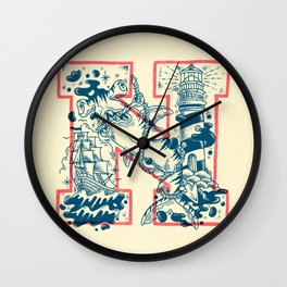 N for Nautical Wall Clock