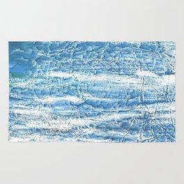 Steel blue nebulous watercolor texture Rug