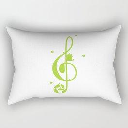 Treble clef and birds Rectangular Pillow