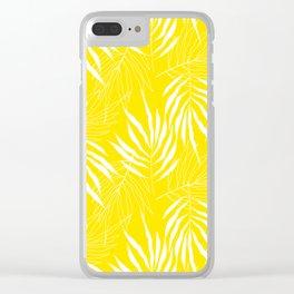 Ash Tree Leaves Scandianvian Pattern Clear iPhone Case