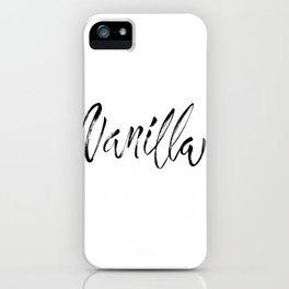 Vanilla Brush Lettering iPhone Case