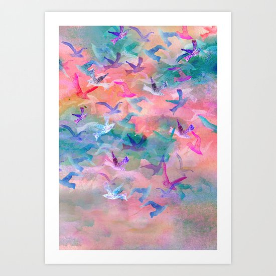 Birds Flight Home II  Art Print