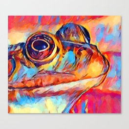 Frog Watercolor Canvas Print