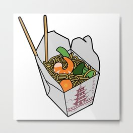 Chinese Takeout Metal Print