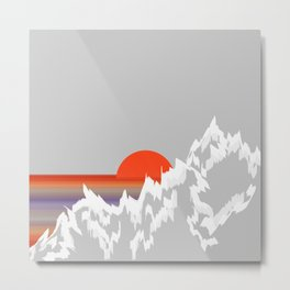 Sunset in the West Appalachian Mountains Metal Print