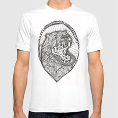 grizzly Mens Fitted Tee White MEDIUM