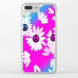 Flower Power Hippie Clear iPhone Case