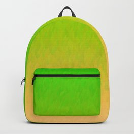 Green Orange Yellow Ombre Flame Backpack