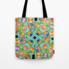 Mixed Colorful Colors in Circles Tote Bag