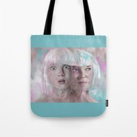 sia Tote Bags featuring Sia - Maddie by firatbilal