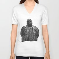 biggie V-neck T-shirts featuring biggie by irdion