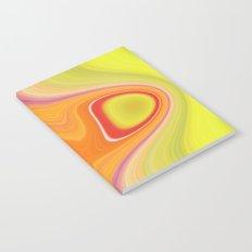 Kinky Sablo Lio ~ Orange & Lime Green Notebook
