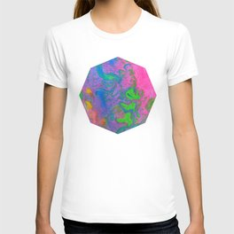 Marbling, Tie Dye Effect Abstract Pattern T-shirt