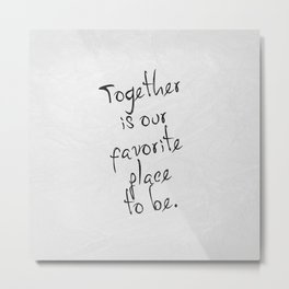 Together 01 Metal Print