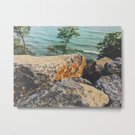 Beach Cliff Metal Print