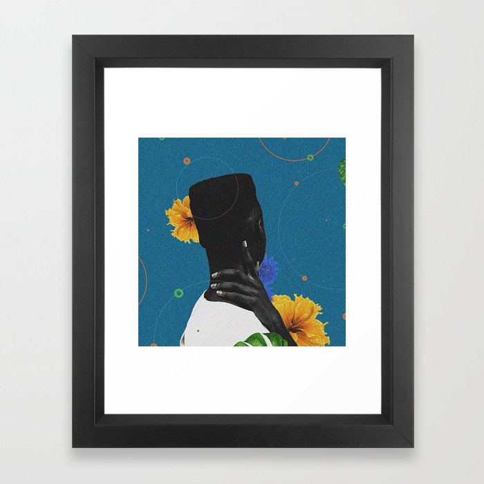 Diaspora Diaries - Collage Digital Print Framed Art Print