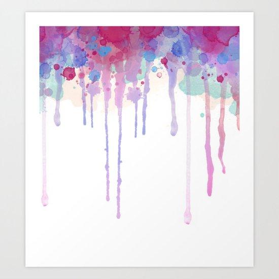 Watercolor Drip Art Print