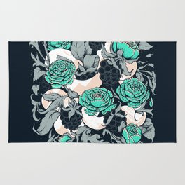 Berries and Snake Florals Rug