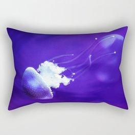 Jellyfish Flowing Through the Moonlight Rectangular Pillow