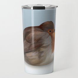 Satisfied robin Travel Mug