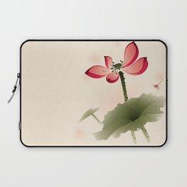 Oriental Lotus 001 Laptop Sleeve