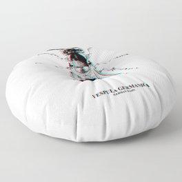 Vespula Germanica (german wasp) Floor Pillow
