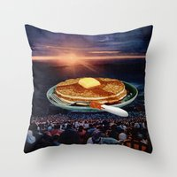 breakfast Throw Pillows featuring Breakfast by Lerson