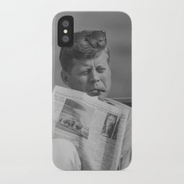 JFK Relaxing Outside iPhone Case