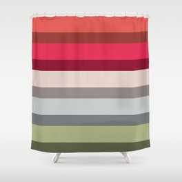 Accordion Fold Series Style H Shower Curtain