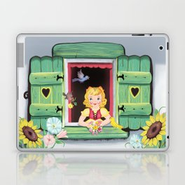 Even The Birds Bring Her Pretty Flowers Laptop & iPad Skin