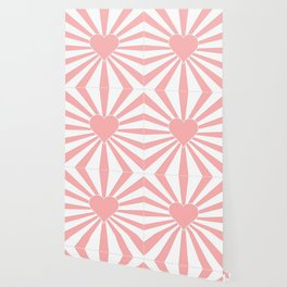 Pink Coral Valentine Love Heart Explosion Wallpaper