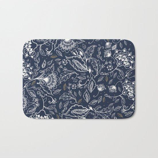 Blue Paisley Bath Mat