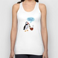 puffin Tank Tops featuring puffin' by Christopher