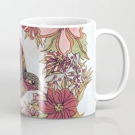 Hummingbird In Flowery Garden Wreath Coffee Mug