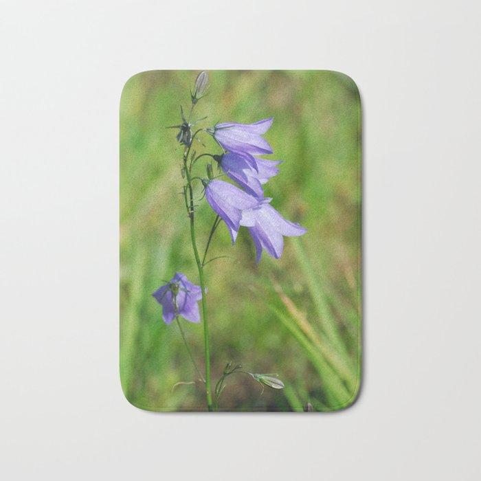 Violet blue Harebell Flower Bath Mat