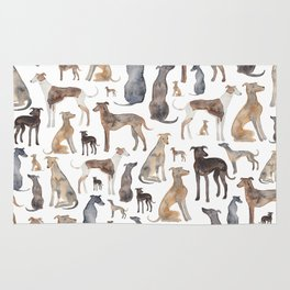 Greyhounds and Whippets Rug